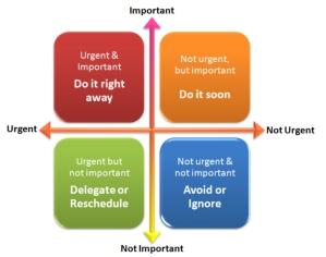 Important/urgent grid